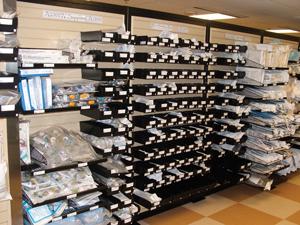 Slatwall Medical Bins. Supply Storage